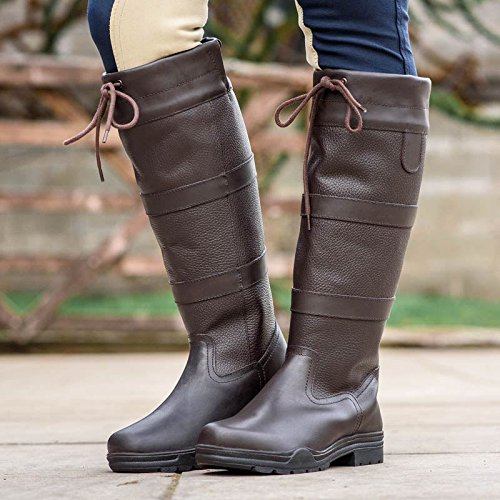 Equestrian Brown Water Joy Tall Country Chocolate New Walking Resistant Boots Riding Horse Rider Eqw41wa