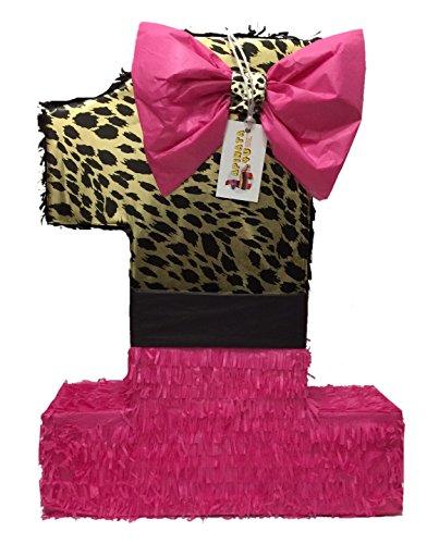 (APINATA4U Large Hot Pink & Cheetah Print Number One)