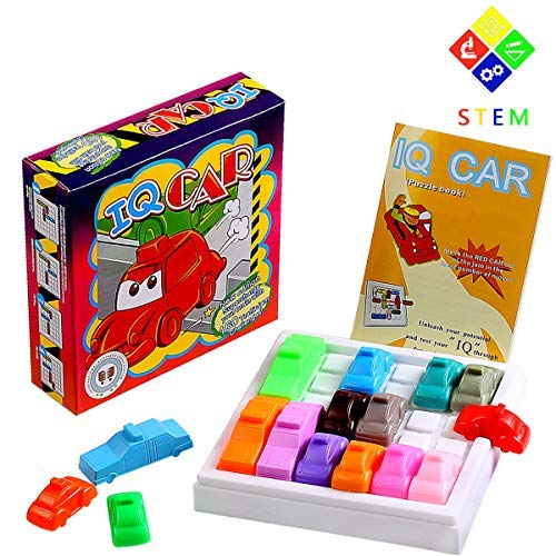YiGooood Traffic Jam Logic Game Car Challenging IQ Car Parking Puzzle Game Model Maze Parking Lot Smart Brain Rush Hour Toys for Kid