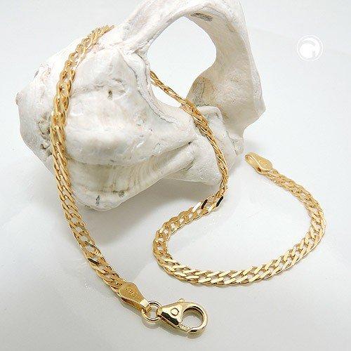 2,8 Mm doppelpanzer parfumes bracelet en or jaune 585 19 mm pour femme