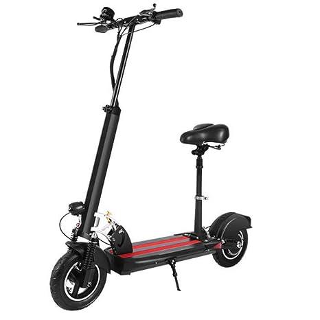 P&LK Scooter eléctrico Plegable y Ajustable con Asiento ...