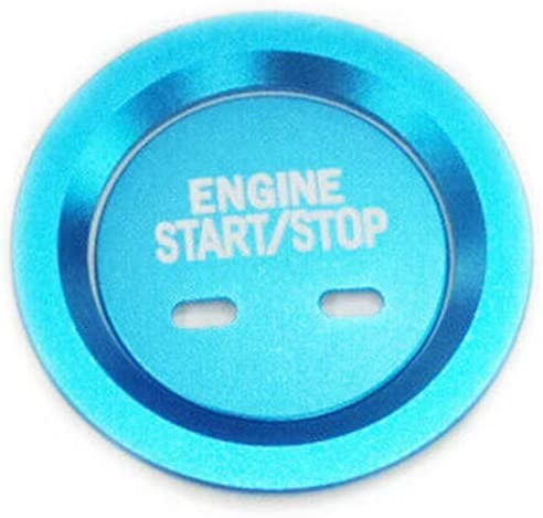 Red Haneex Red//Black//Blue//Silver//Gold Engine Push Start Button Cover /& Surrounding Trim Ring for Cadillac Chevy GMC Tahoe Malibu