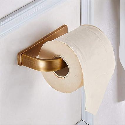 GKRY@Rollo de Papel Higiénico Titular Wall Mounted-Estante de Papel WC-Acero