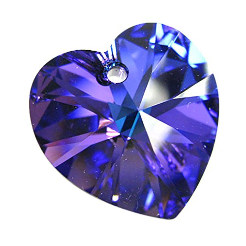 1 pc Swarovski Xilion Crystal 6228 Heart Charm Pendant Heliotrope 18mm / Findings / Crystallized Element - 18mm 1 Charm