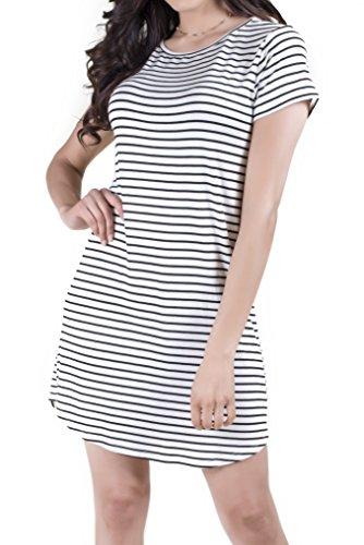 Buy cute black and white dress - 7