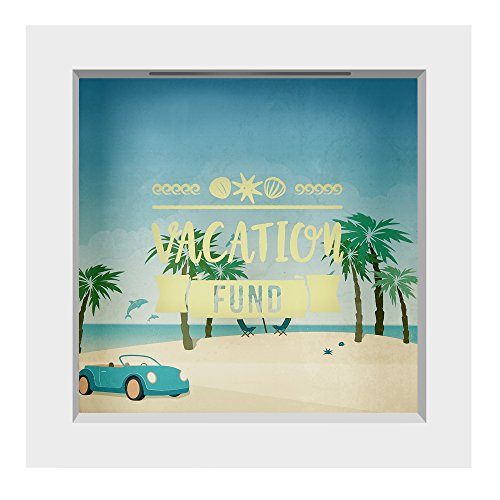 Americanflat 6x6 Inch Vacation Fund Shadow Box Frame by Americanflat