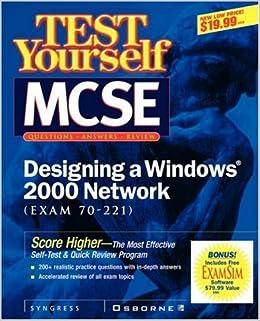Test Yourself MCSE Designing A Windows 2000 Network (Exam 70-221) by John M. Gunson II (2000)