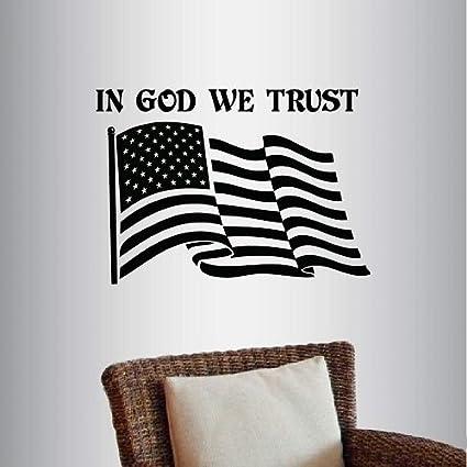 Amazon Com Wall Vinyl Decal Home Decor Art Sticker In God We Trust