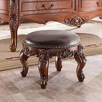 Amazon Com Jiaqi Sofa Stool Leather Ottoman Foot Stools