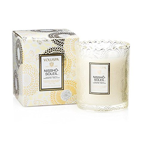 Voluspa Nissho Soleil Boxed Scalloped Edge Glass Candle, 6.2 Ounce ()