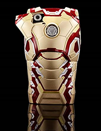 new style 48541 ed2e5 Iron Man 3D Armor Hard Phone Case Cover with LED light For iPhone 5 ...