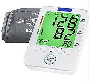 Tensiómetro de brazo (BP) lecturas de presión arterial Monitor precisa, monitores normales y