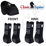 Classic Equine MED Lightweight Horse LEGACY2 Front HIND Bell Sport Boots Black