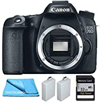 Canon 70D Body + Two Extra Batteries Package