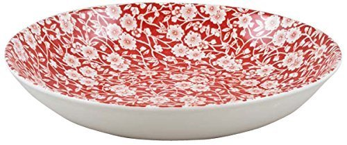 Burleigh Red Calico Pasta Bowl 23 cm Burgess & Leigh