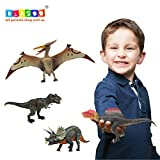 BLAGOO Dinosaur Toys w Moving Parts 4 Figures up to 10.2 in