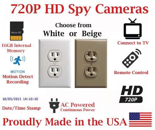 SecureGuard Receptacle Spy Camera