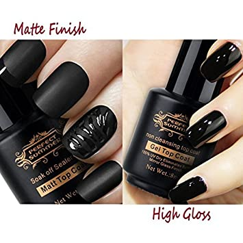 Perfect Summer Matte Top Coat Non Cleansing Top Coat For Gel Nail Polish Matte Effect High Glossy No Wipe Top Gel Clear Color 8ml Each