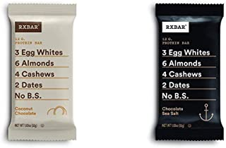 product image for RXBAR, Coconut Chocolate, Protein Bar, 1.83 Ounce (12 count) with Chocolate Sea Salt, Protein Bar, 1.83 Ounce Breakfast Bar