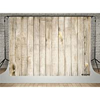 SUSU 7x5ft/2.2x1.5m Photography Backdrops Vintage Light Gray Wood Wall Background Photo Booth