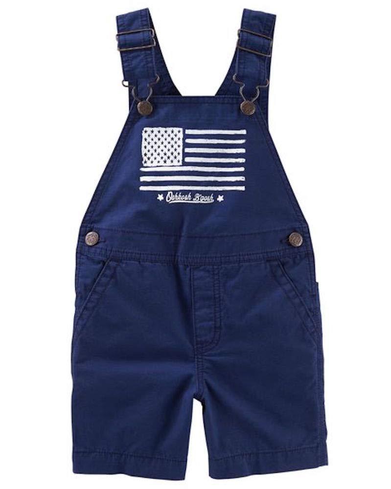 OshKosh B'Gosh Navy Twill Americana Shortalls 3T