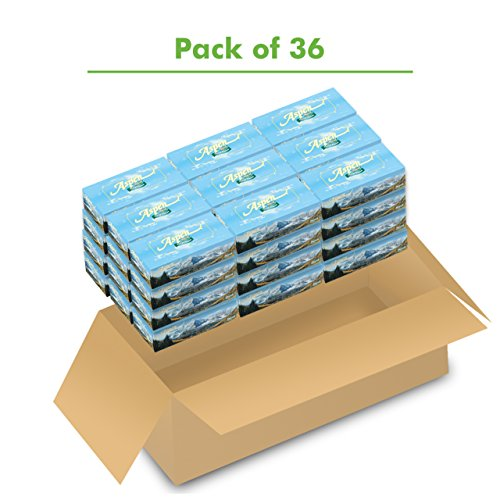 Marcal Pro Aspen Facial Tissue - 100% Recycled, 2-Ply, White Tissues - 144 Sheets Per Box, 36 Flat Office Tissue Boxes per Case 03305 by Marcal (Image #2)