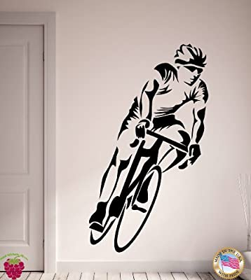 Wall Stickers Vinyl Decal Cycle Sport Cycling Racing Bicycle (z1118i)