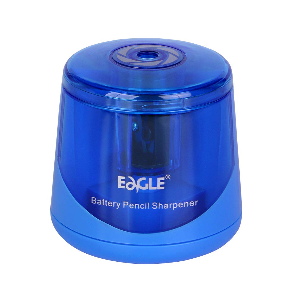 Eagle Electric Pencil Sharpener,  Battery Operated, Double Blade Design