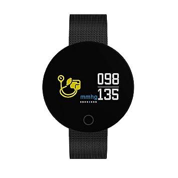 WAZA Fitness Pulsera Actividad Tracker, Smart Watch Bluetooth, Deportes Reloj podómetro Reloj pulsómetro Dormir Monitor Tensiómetro 0.96 Pulgadas de ...