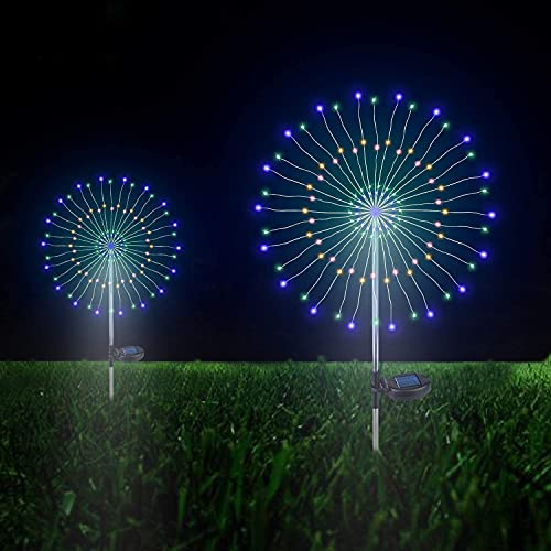 Outdoor Solar Garden Decorative Lights- 105 LED Powered 35 Copper Wires String Landscape Light-DIY Flowers Fireworks…
