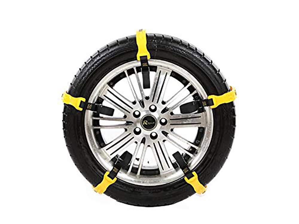 Cadenas para nieve para automóviles, 10 cadenas para nieve universales, neumáticos antideslizantes y ajustables para camionetas SUV para automóviles, ...