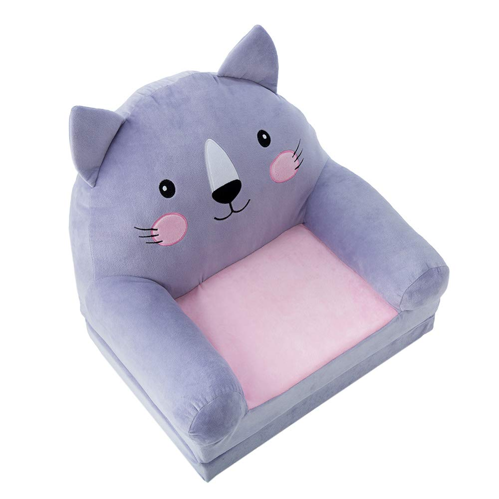 Baby Girl's 1st Chair - Soft, Safe and Supportive for Baby Girl - Fold-Out Option to Support Growing Baby