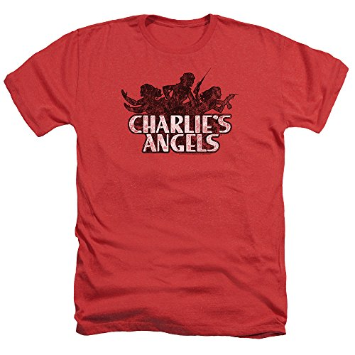 Charlies Angels Charlies Angels Vintage Logo Unisex Adult Heather T Shirt for Men and Women