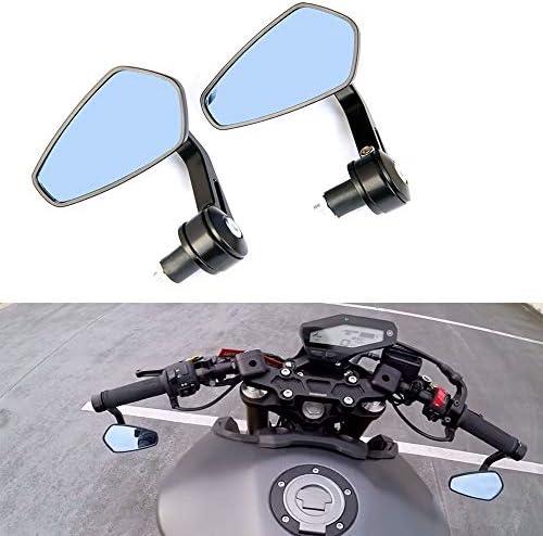 ユニバーサルブラックオートバイミラーバーエンドサイドミラー ホンダスクーター スズキ ヤマハ カワサキ ビクトリー ハーレーダビッドソン