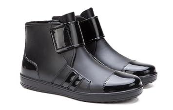 Frühling und Herbst Männer Mode Regen Stiefel Anti-Rutsch Wasserdicht Regen Schuhe , black , 42