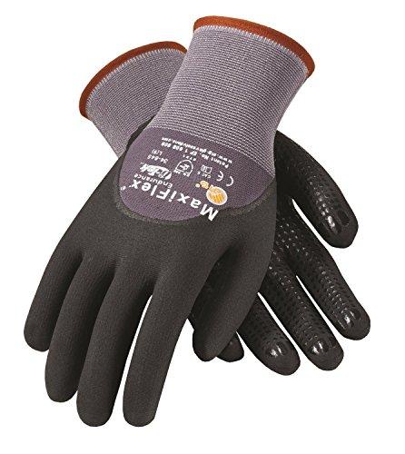 Coated Seamless Knit Glove - PIP G-TEK Maxi Flex Endurance 34-845 Seamless Knit Coated Gloves Pair, Small/X-Large/Medium, 3 Piece