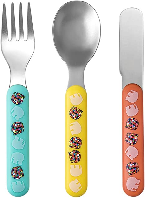 Perfectly Suitable for The Small Hands! 3-Piece Cutlery Set Elmer Petit Jour Paris
