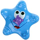 Baby Bath Toy , New Spray Toy Summer Starfish Floating Bathtub Sprayer Shower Electronic Dabble Toy Rotating Water Fountain for kid Swimming Bath Use