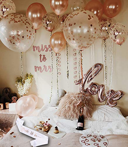 bachelorette party decorations supplies rose gold bridal shower set classy bride to be sash pink wall banner decoration miss to mrs decor rose