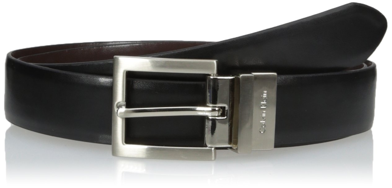 Calvin Klein Women's Reversible Belt,Black/Brown,Small
