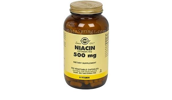 Solgar - Magnesio del Niacin (vitamina B3 500) . - 250 cápsulas vegetarianas: Amazon.es: Salud y cuidado personal