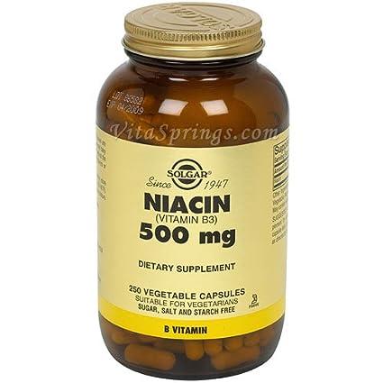 Solgar - Magnesio del Niacin (vitamina B3 500) . - 250 cápsulas vegetarianas