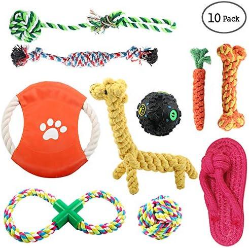 Juguete de Cuerda para Perros, Grupo de Juguetes Perro 10 piezas Durable Masticable Juguete para Cachorro Formación para la Dentición: Amazon.es: Hogar