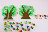 Yingealy Educational Toy Wooden Fruit String Threading Toy Baby Early Childhood Educational Toys (Green)