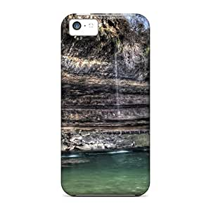 Mialisabblake Iphone 5c Hybrid Tpu Case Cover Silicon Bumper Canyon Waterfalls