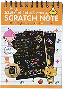 "Premium Scratch & Sketch Art Note Pads - (4 Pack) Rainbow Art & Doodle Pad. MINI size [with assorted covers, 4"" x 5.5"", 10 sheets and 1 stylus per pad]. Great for Kids!"