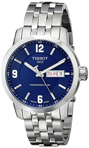 Tissot Men's T0554301104700 PRC 200 Analog Display Swiss Automatic Silver-Tone Watch
