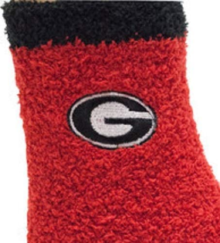 Donegal Bay Unisex Georgia Solid Fuzzy Sock Red One Size