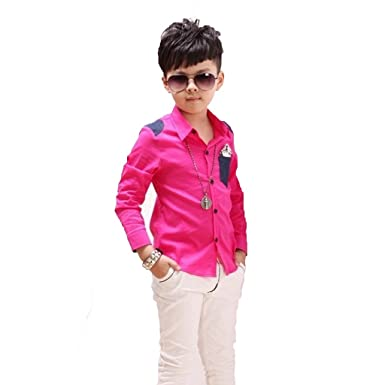 GETUBACK - Camisa - para niño Rosa Rosa (b): Amazon.es: Ropa y accesorios