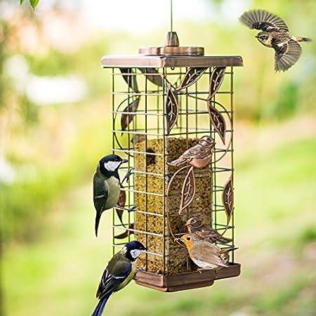 Comedero para Pájaros Al Aire Libre Comedero Colgante Alimentador Automático para Pájaros Silvestres Perfecto para Decoración De Jardines Y Observación De Aves para Amantes De Las Aves,01: Amazon.es: Hogar